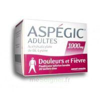 ASPEGIC ADULTES 1000 mg, poudre pour solution buvable en sachet-dose 20 à Ris-Orangis