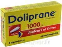 DOLIPRANE 1000 mg Suppositoires adulte 2Plq/4 (8) à Ris-Orangis