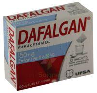 DAFALGAN 150 mg Poudre effervescente pour solution buvable B/12 à Ris-Orangis