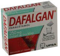 DAFALGAN 250 mg Poudre effervescente pour solution buvable B/12 à Ris-Orangis