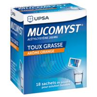 MUCOMYST 200 mg Poudre pour solution buvable en sachet B/18 à Ris-Orangis