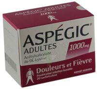 ASPEGIC ADULTES 1000 mg, poudre pour solution buvable en sachet-dose 15 à Ris-Orangis
