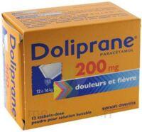 DOLIPRANE 200 mg Poudre pour solution buvable en sachet-dose B/12 à Ris-Orangis