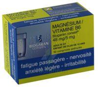 MAGNESIUM/VITAMINE B6 BIOGARAN CONSEIL 48 mg/5 mg, comprimé pelliculé à Ris-Orangis