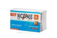 Nicopass 2,5 mg Pastille réglisse menthe sans sucre Plq/96 à Ris-Orangis