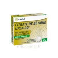 Citrate de Bétaïne UPSA 2 g Comprimés effervescents sans sucre menthe édulcoré à la saccharine sodique T/20 à Ris-Orangis