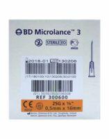 BD MICROLANCE 3, G25 5/8, 0,5 mm x 16 mm, orange  à Ris-Orangis