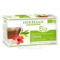 Herbesan Infusion Bio Tisane Détox 20 Sachets à Ris-Orangis