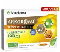 Arkoroyal Gelée royale bio sans sucre 1500mg Solution buvable 20 Ampoules/10ml à Ris-Orangis