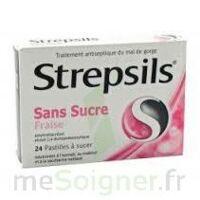 Strepsils Fraise Sans Sucre, Pastille édulcorée à L'isomalt, Au Maltitol Et à La Saccharine Sodique à Ris-Orangis