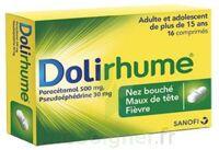 DOLIRHUME PARACETAMOL ET PSEUDOEPHEDRINE 500 mg/30 mg, comprimé à Ris-Orangis