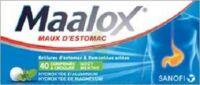 MAALOX HYDROXYDE D'ALUMINIUM/HYDROXYDE DE MAGNESIUM 400 mg/400 mg Cpr à croquer maux d'estomac Plq/40 à Ris-Orangis