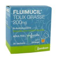 FLUIMUCIL EXPECTORANT ACETYLCYSTEINE 200 mg SANS SUCRE, granulés pour solution buvable en sachet édulcorés à l'aspartam et au sorbitol à Ris-Orangis