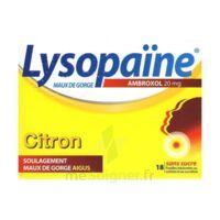LysopaÏne Ambroxol 20 Mg Pastilles Maux De Gorge Sans Sucre Citron Plq/18 à Ris-Orangis
