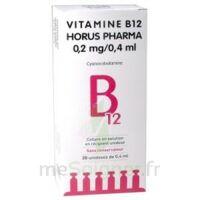 Vitamine B12 Horus Pharma 0,05 % Collyre Sol En Récipient Unidose 20unid/0,4ml à Ris-Orangis