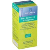 CHLORHEXIDINE/CHLOROBUTANOL BIOGARAN CONSEIL 0,5 ml/0,5 g pour 100 ml, solution pour bain de bouche Fl/200ml à Ris-Orangis