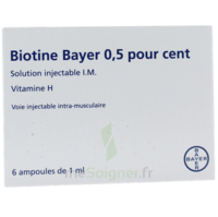 BIOTINE BAYER 0,5 POUR CENT, solution injectable I.M. à Ris-Orangis