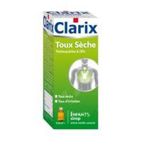 CLARIX TOUX SECHE PENTOXYVERINE 0,15 % ENFANTS, sirop à Ris-Orangis