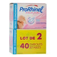 PRORHINEL Lot de 2 x 20 Embouts Jetables Souples pour Mouche Bébé à Ris-Orangis