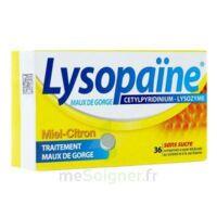 LYSOPAÏNE Comprimés à sucer maux de gorge miel citron sans sucre 2T/18 à Ris-Orangis