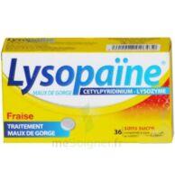 LYSOPAÏNE Comprimés à sucer maux de gorge fraise sans sucre 2T/18 à Ris-Orangis