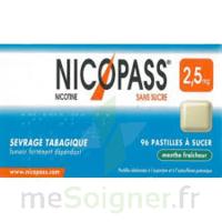 Nicopass 2,5 mg Pastille menthe fraîcheur sans sucre Plq/36 à Ris-Orangis