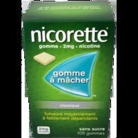 NICORETTE 2 mg Gom à mâcher médic sans sucre menthe fraîche Plq/105gom à Ris-Orangis
