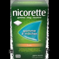 Nicorette 2 mg Gomme à mâcher médicamenteuse sans sucre fruits Plq/30 à Ris-Orangis