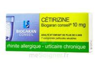 CETIRIZINE BIOGARAN CONSEIL 10 mg, comprimé pelliculé sécable à Ris-Orangis
