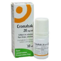 CROMABAK 20 mg/ml, collyre en solution à Ris-Orangis