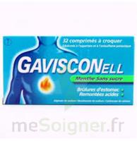 GAVISCONELL Coprimés à croquer sans sucre menthe édulcoré à l'aspartam et à l'acésulfame potas Plq/24 à Ris-Orangis