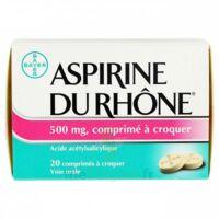 ASPIRINE DU RHONE 500 mg, comprimé à croquer Film thermos/20 à Ris-Orangis