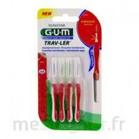 GUM TRAV - LER, 0,8 mm, manche rouge , blister 4 à Ris-Orangis
