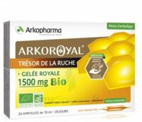 Arkoroyal Gelée royale bio 1500 mg Solution buvable 20 Ampoules/10ml à Ris-Orangis