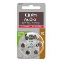Quies Audio Pile Auditive Modèle 312 Plq/6 à Ris-Orangis