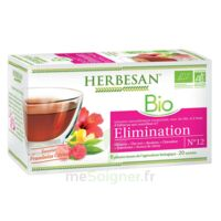 Herbesan Hibiscus Bio Tisane élimination 20 Sachets à Ris-Orangis