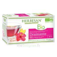 Herbesan Infusion Bio Tisane drainante 20 Sachets à Ris-Orangis