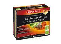 Superdiet Gelée Royale Miel Pollen Bio Solution Buvable 10 Ampoules/15ml à Ris-Orangis