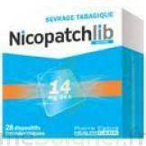 NICOPATCHLIB 14 mg/24 h Dispositifs transdermiques B/28 à Ris-Orangis